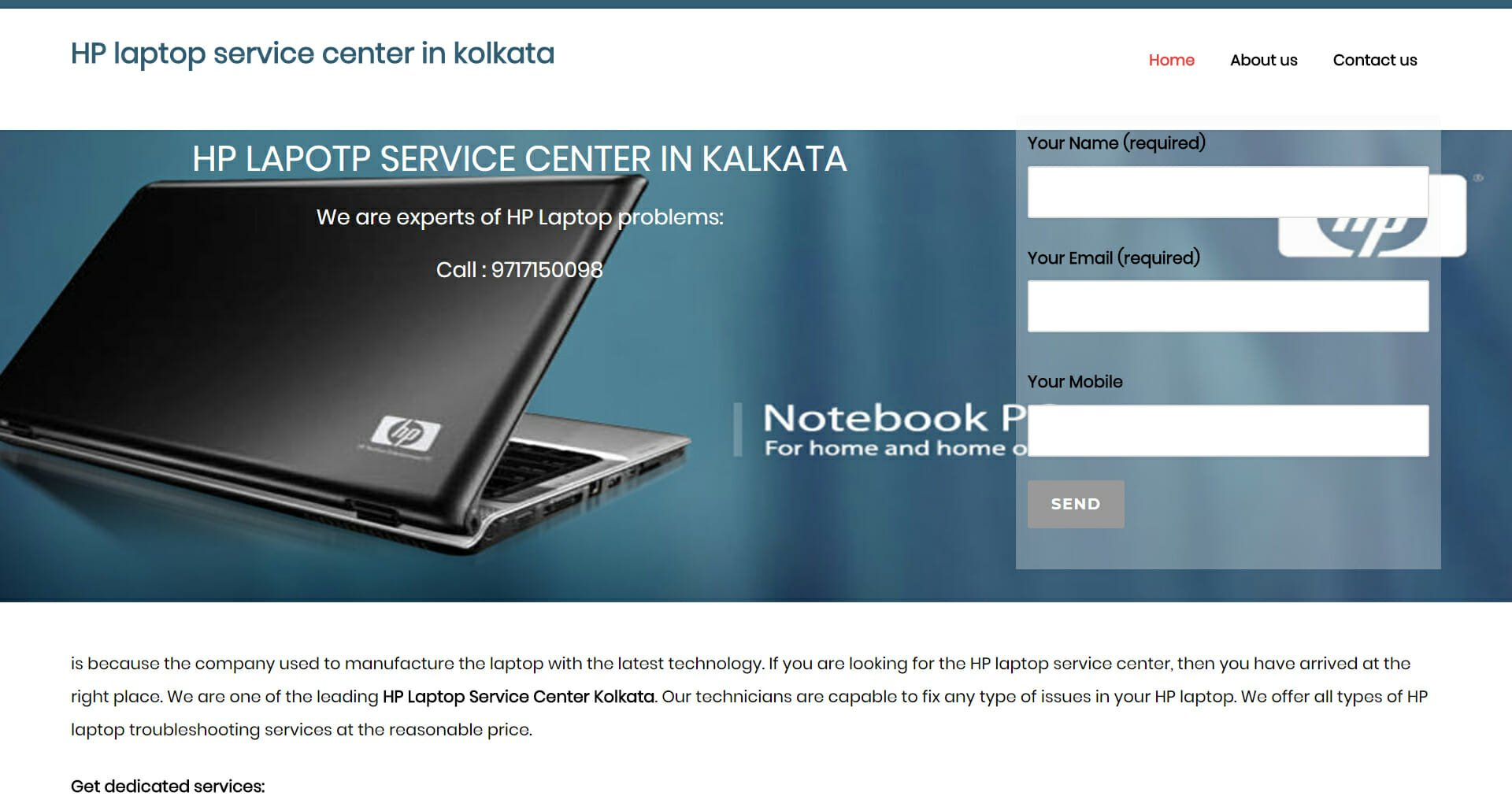 HP laptop service |